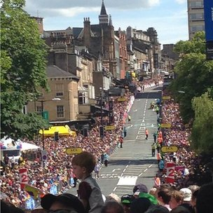 crowds in harrogate