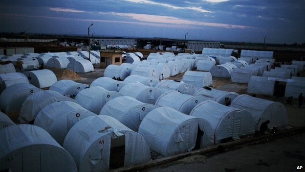 Refugee camp in Azaz, Syria