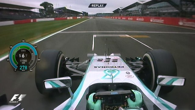 British Grand Prix: Mercedes' Nico Rosberg takes pole in the rain