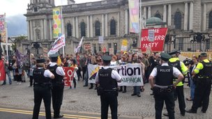 Pro-choice demonstration