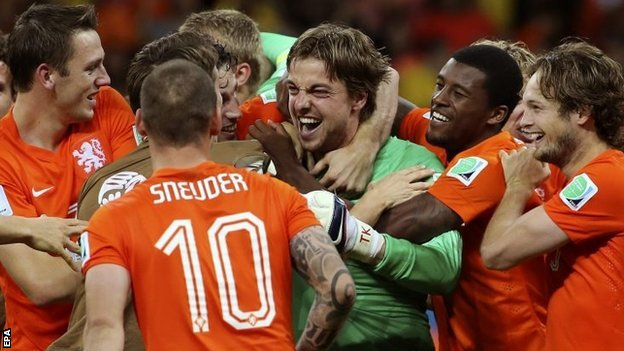 Tim Krul, Netherlands v Costa Rica, World Cup 2014