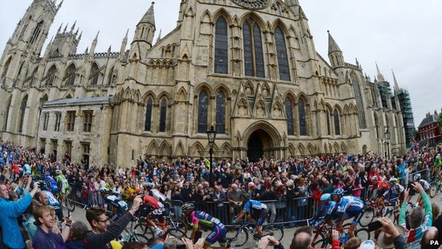 Tour de France at York Minster