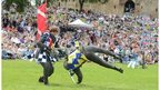 Historic Scotland jousting event at Linlithgow Palace