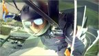 Lewis Hamilton skydives into Silverstone