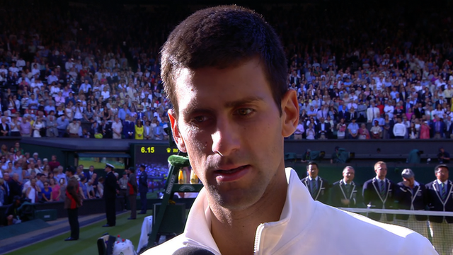 "Wimbledon 2014: Novak Djokovic praises Roger Federer for a ""great fight"""