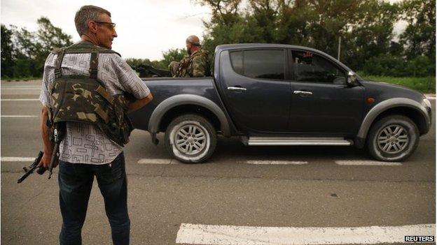 Pro-Russian separatist rebels retreat from Sloviansk (5 July 2014)