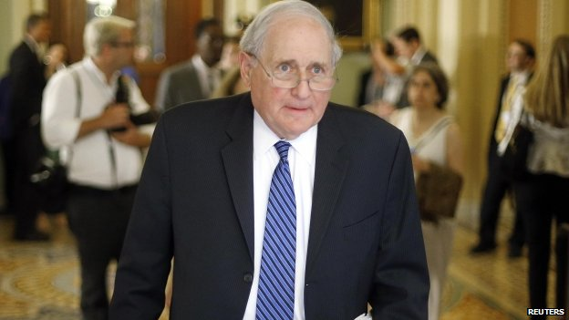 Senator Carl Levin in Washington (June 2014)