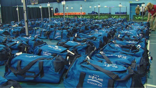 Team Scotland kitbags