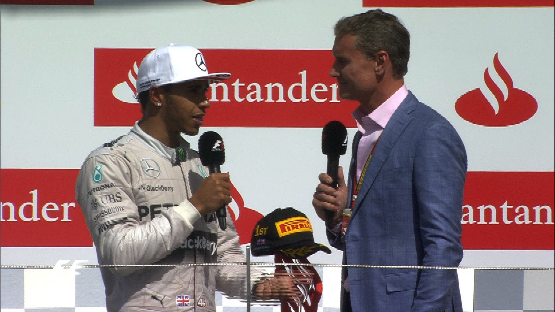 Lewis Hamilton talks to David Coulthard