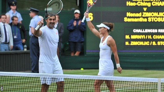 Nenad Zimonjic and Sam Stosur