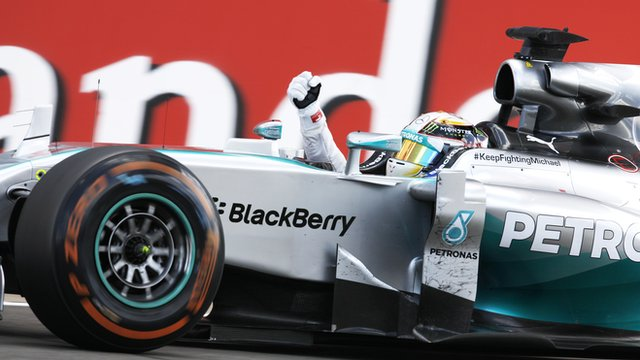 British GP highlights: Hamilton wins as Rosberg retires