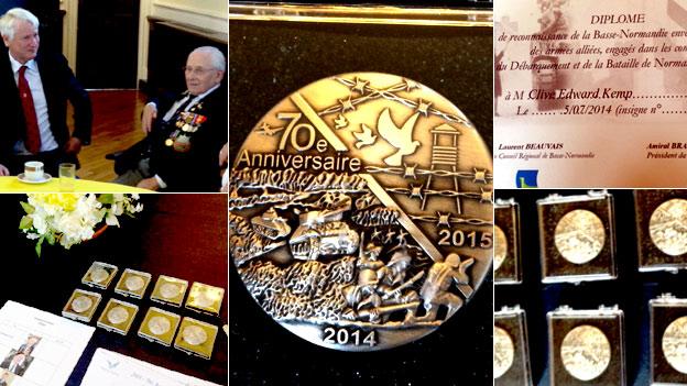 Normandy veterans honoured