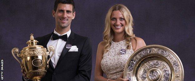 Novak Djokovic and Petra Kvitova