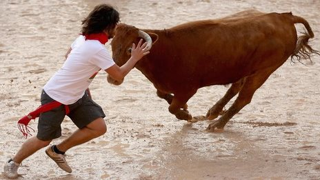 In pictures: Pamplona bull run