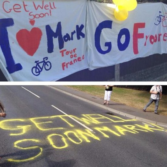 Get well messages for Mark Cavendish