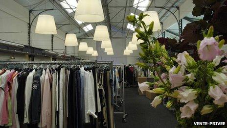 Vente-privee clothes warehouse