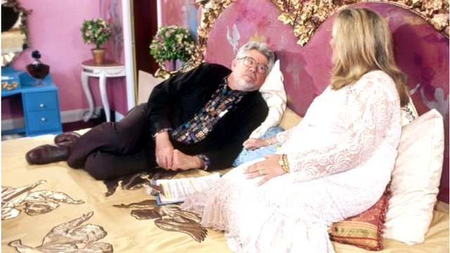 Rolf Harris and Vanessa Feltz from the Big Breakfast in 1996