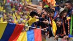 Colombia's players being welcomed back to Bogota on Sunday