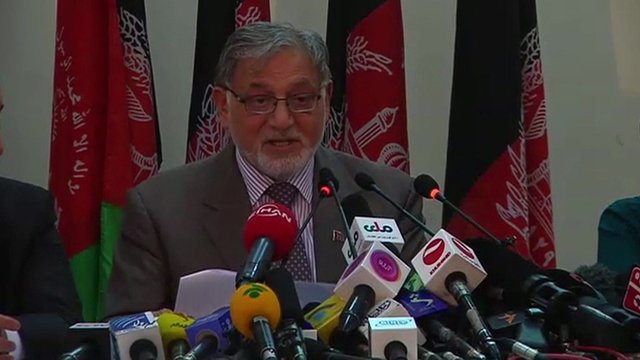 Ahmad Yusuf Nuristani, chairman of the Independent Election Commission of Afghanistan