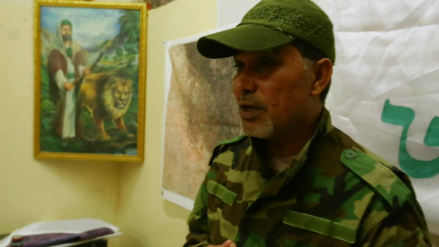 Haji Jawad Al Talabwi, a senior member of the Asaib Ahl al-Haqq group - in Djail, north of Baghdad - 6 July 2014