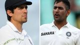 Alastair Cook and Mahendra Singh Dhoni