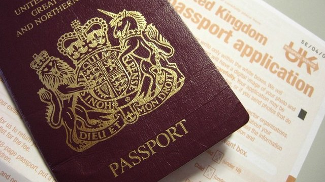 Passport and application document