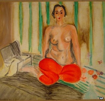 Matisse's Odalisque in Red Pants