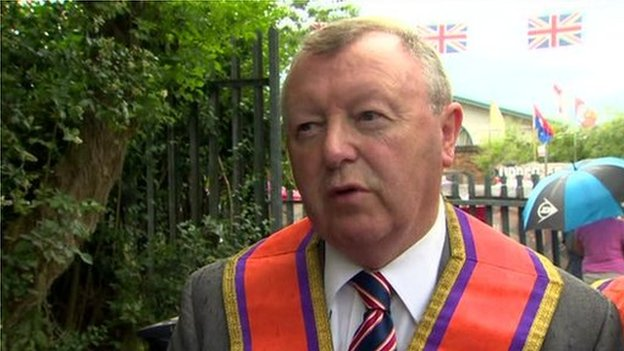 Grand Secretary of the Orange Order, Drew Nelson, said people had nothing to fear from the protests