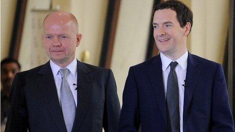 George Osborne and William Hague