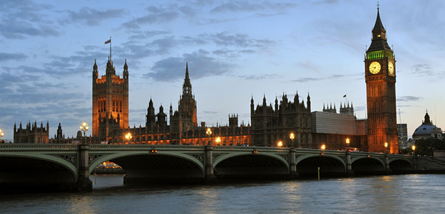 Palace of Westminster at dusk