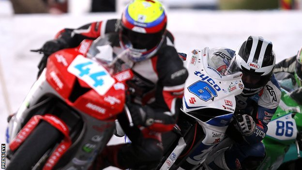 Jamie Hamilton leads William Dunlop at Skerries