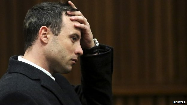 Olympic and Paralympic athelte Oscar Pistorius in court in Pretoria, South Africa - 8 July 2014