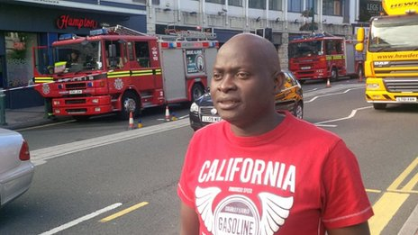 Hotel guest Ade Ibironke, who said he was woken at around 06:00 by a fire alarm