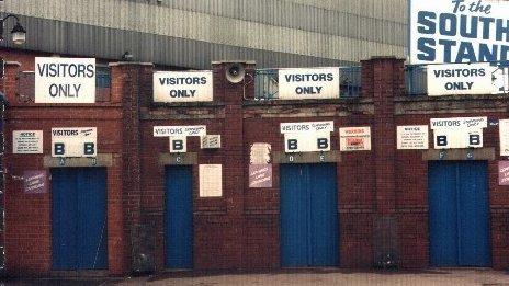 Turnstiles at the Hillsborough stadium