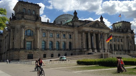The Reichstag, Germany's parliament building