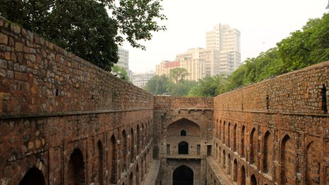 Agrasen ki Baoli- staircase and water reservoir just behind our office