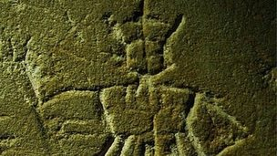 The straw king medieval graffiti
