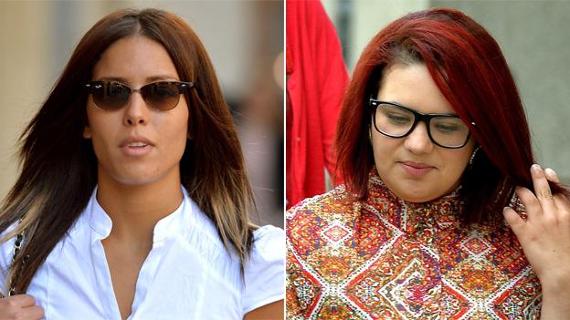 Nawal Msaad (left) Amal El-Wahabi,