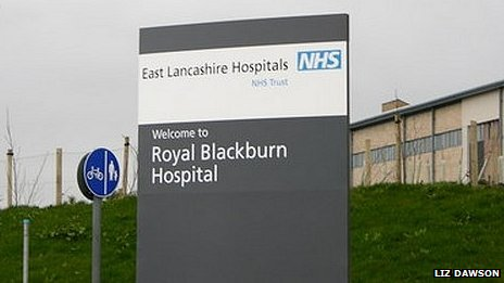 Royal Blackburn Hospital sign