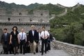 US Secretary of State John Kerry (fourth from left) and US Treasury Secretary Jack Lew (fifth from left) tour the Badaling Section of the Great Wall of China in Beijing
