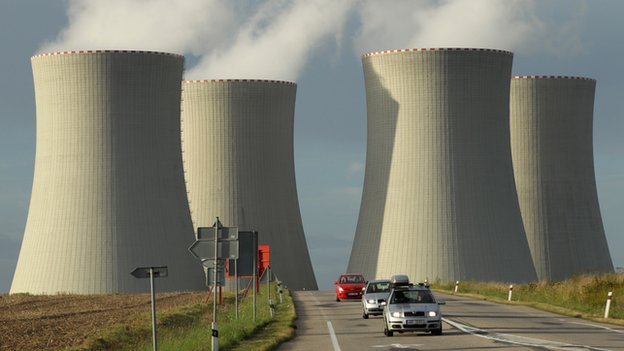 Cooling towers at the Temelin nuclear power station, Czech Republic, 2011