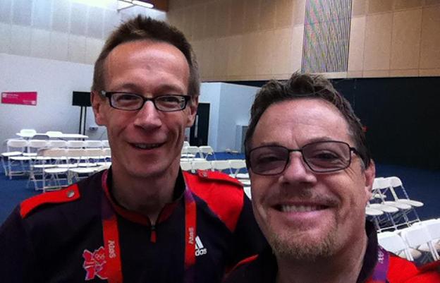 David Cornock and Eddie Izzard