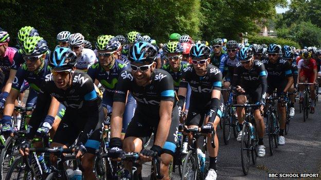 The peloton in Harrogate