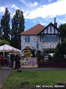 House decorated for Le Tour