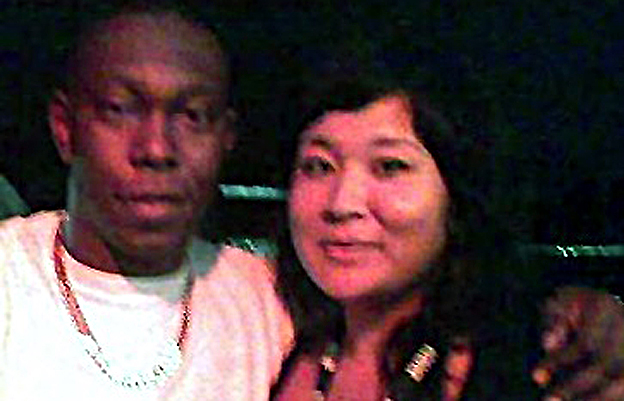 Dizzee Rascal and Michelle Gopsill