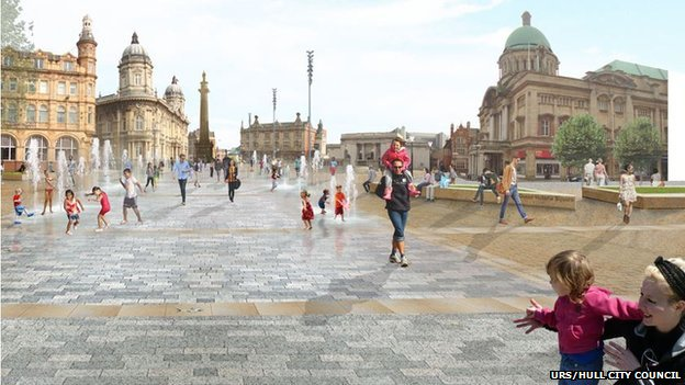 Queen Victoria Square as planned
