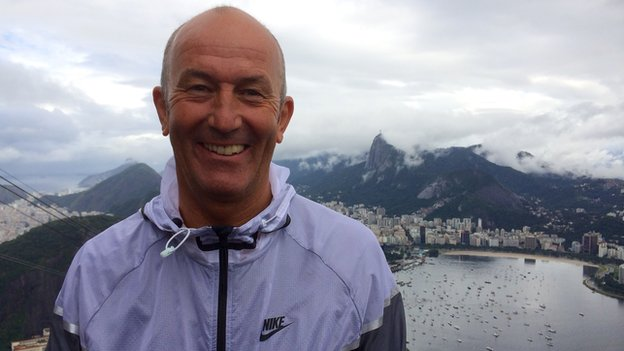 Crystal Palace manager Tony Pulis on Sugarloaf Mountain