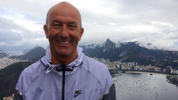 Crystal Palace manager Tony Pulis on Sugarloaf Mountain