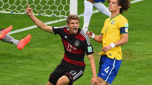Thomas Muller strike puts Germany ahead