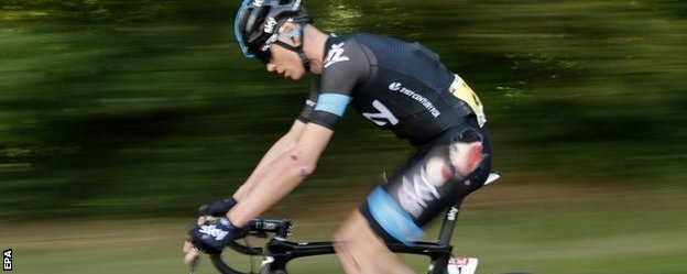 Chris Froome after his fall in the Tour de France